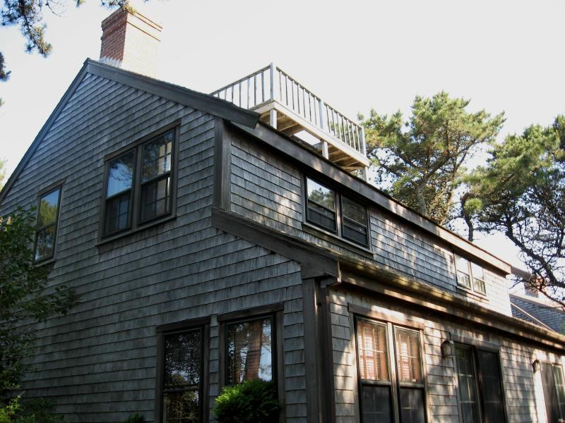 Outside front with Widow's Walk - Lovely 4 BR house on Nantucket - Madaket - Nantucket - rentals