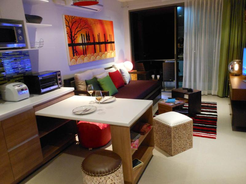 Dining area and living room - OH YES...What you see is exactly what you get ! - Phuket - rentals