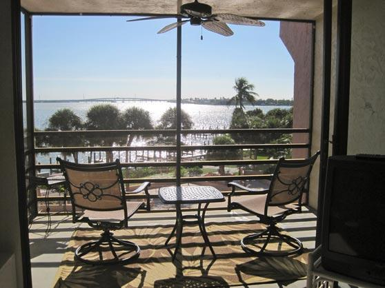 Enjoy a relaxing drink on the lanai while watching the boats go by. - Waterfront Condo w/Pool, Great View, & Near Beach - Marco Island - rentals