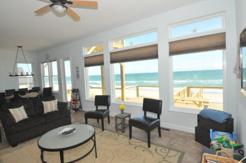 Living room open to kitchen and dining room - Salty Paws - SPECIAL PRICE WEEK OF JUNE 6! - Topsail Beach - rentals
