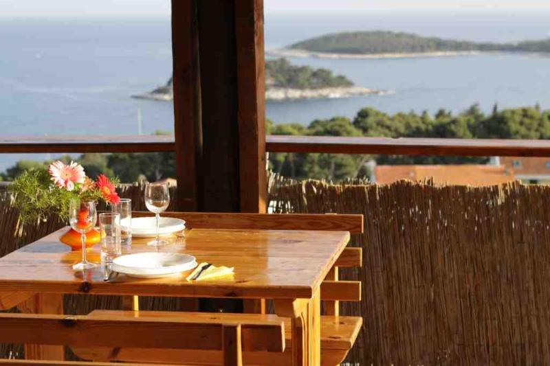 The view from one of the terraces. Perfect place for a romantic dinner. - Pansion Garni Fio - Hvar - rentals