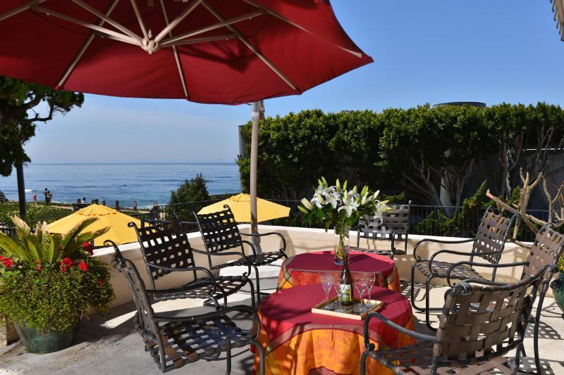 Terrace overlooking the private pool - Ocean Front Landmark Estate - La Jolla - rentals