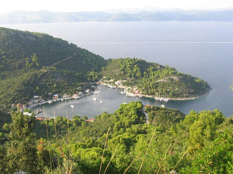 Okuklje, panorama - Calm lagoon at sea - Mljet - rentals