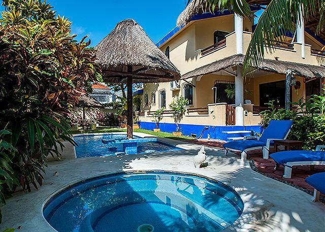 Hot Tub & Pool in Private Back Yard. - Beautiful Quiet Studio, Private Balcony, Ocean Breezes, Pool & Hot Tub. - Puerto Morelos - rentals