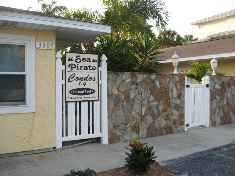 Entrance to Sea Pirate Condos - Super Clean! 100 Steps to Beach + Pool - Holmes Beach - rentals