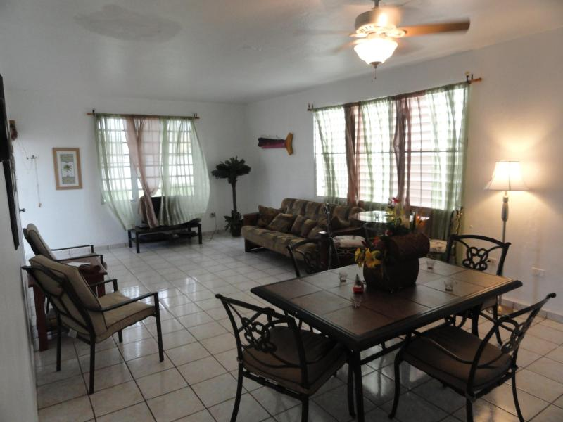 Living Room from Hallway - Villa Caribe of Casa Caribe Vacation Rentals - Aguadilla - rentals