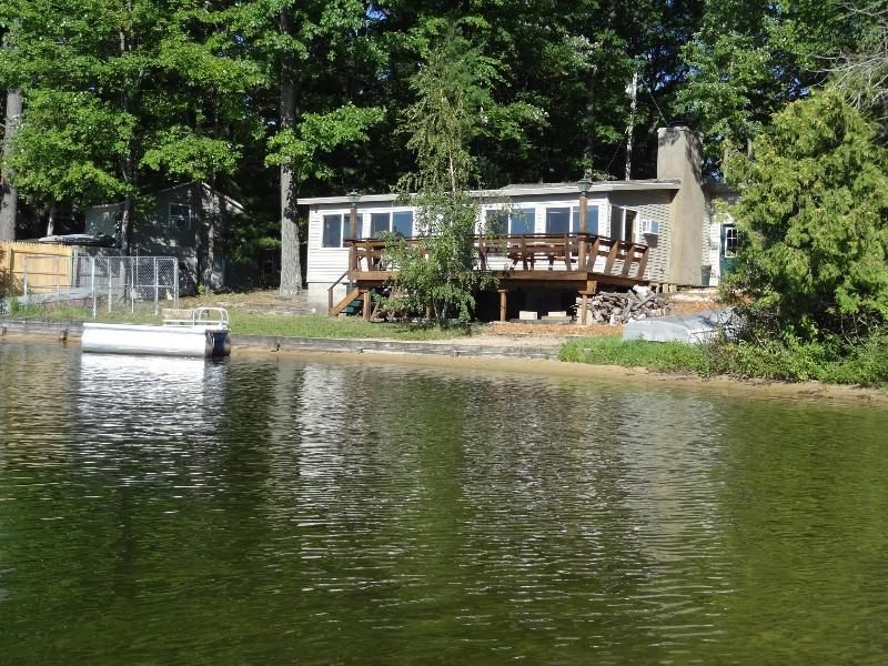View from lake - 3 bedroom cabin on Spider Lake in Traverse City MI - Traverse City - rentals