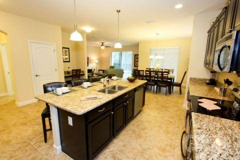 Eat in kitchen, fully stocked - Paradise Villa, near Disney, with Sauna and Hot Tub - Kissimmee - rentals