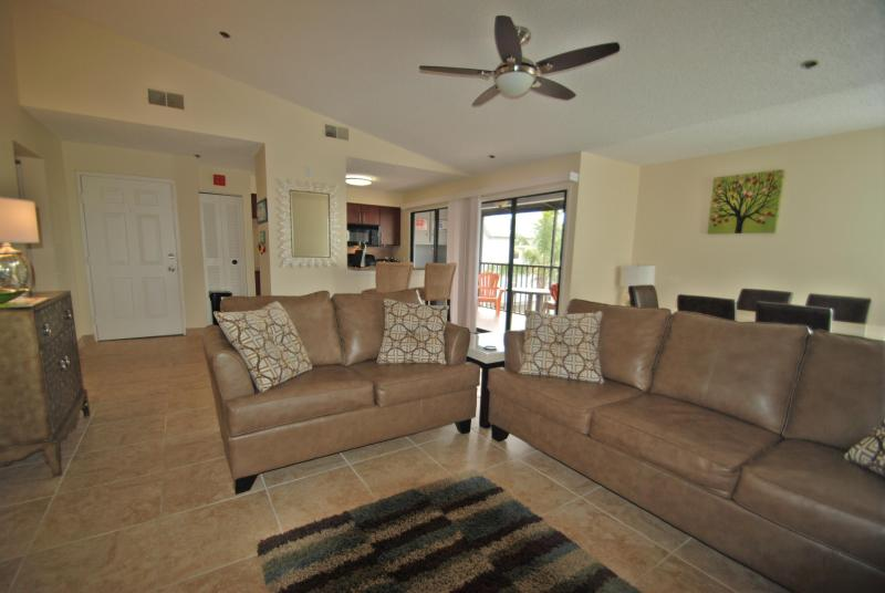 Lounge - wide angle lens - Come to The Cove # 204 East Bay Drive Holmes Beach - Holmes Beach - rentals
