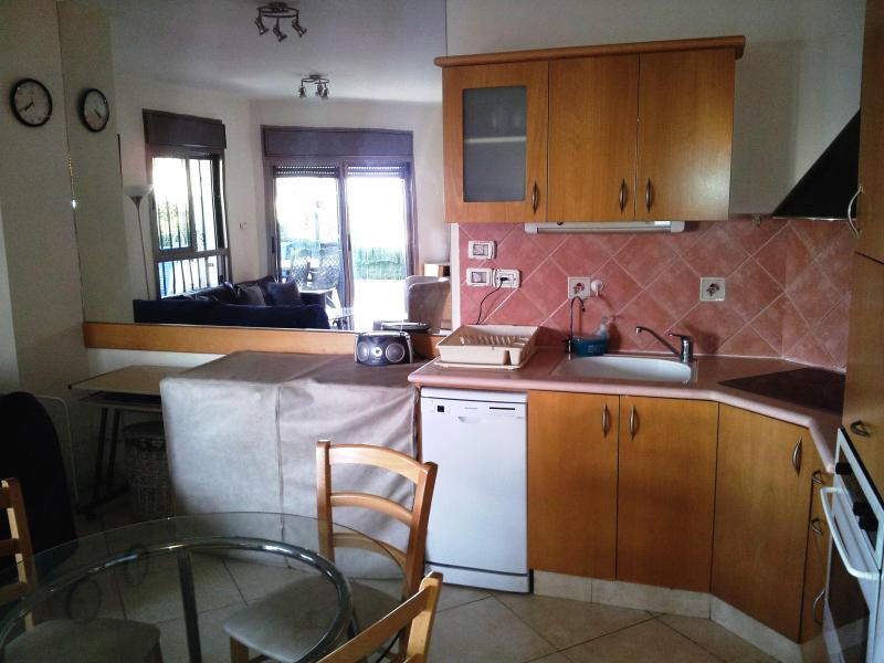 Fully equipped kitchen - with large fridge, stove, oven microwave and more - Garden Apartment - Private Family Pool near Beach - Eilat - rentals