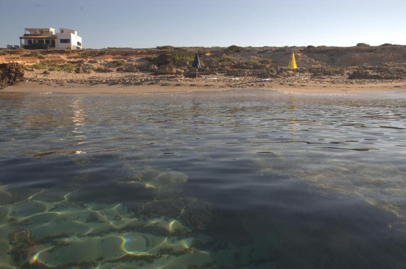 the house  from the sea - beachfront villa in private location - Formentera - rentals