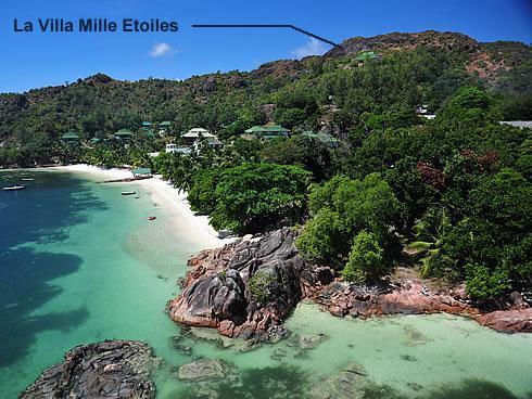 Bird's eye view - Villa Mille Etoiles - Praslin Island - rentals