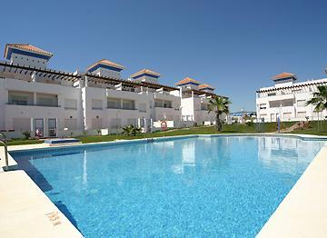Poolside view of the magnificent Be Air Platinum - Stunning 5 Bedroom Spanish Villa with sea views - Estepona - rentals