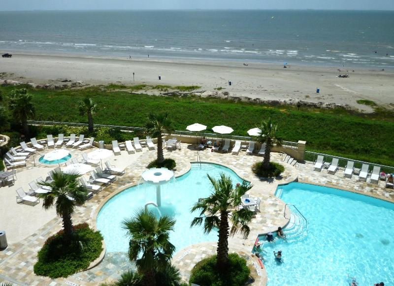 View from balcony looking east - Casual Elegance Defined! - Galveston - rentals