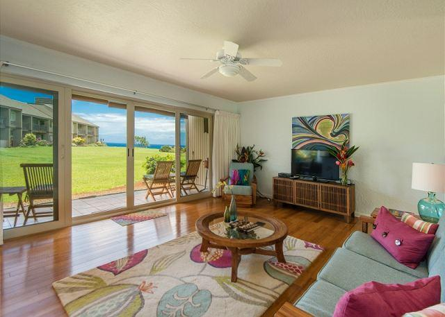 15% off May & June!! Beautiful Ocean Views from this Remodeled Pali Ke Kua!! - Image 1 - Princeville - rentals