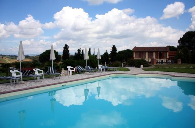 View from the pool - Apartment on the Tuscan hills with swimming pool - Castelfiorentino - rentals