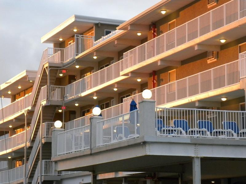 view of Summer Sands from the beach - Wildwood Crest  Beach Front Condo - Wildwood Crest - rentals