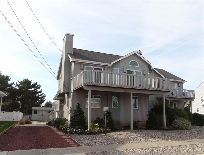 243 105th St East Stone Harbor NJ Front Exterior View - 243 105th Street in Stone Harbor, NJ - ID 255220 - Stone Harbor - rentals