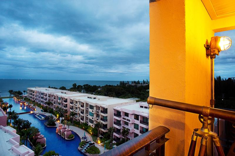 View from Penthouse Balcony - 3BR BeachFrnt Luxury Marrakesh Res Boutique Condo - Hua Hin - rentals