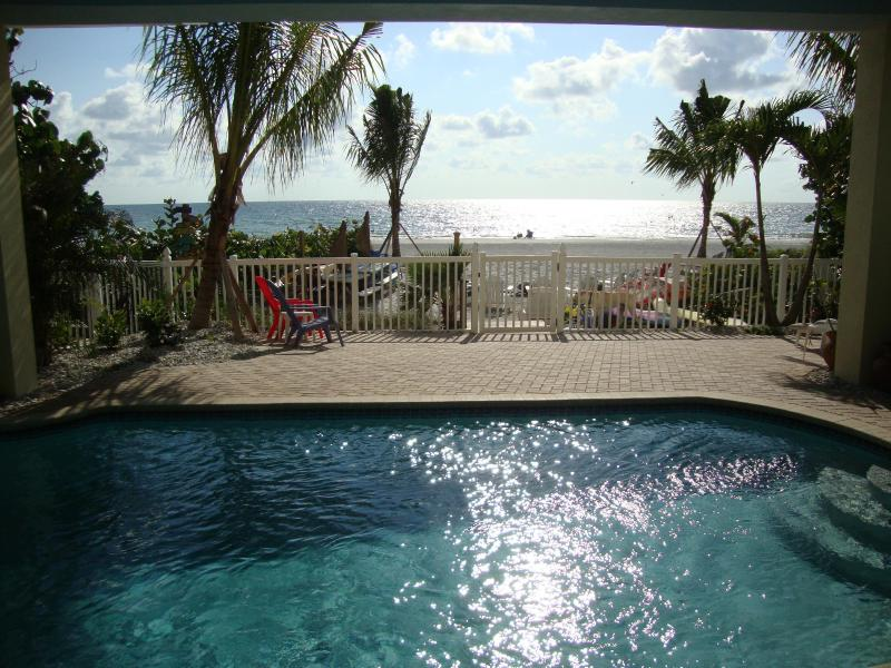"BUNGALOWS feature a sparkling beachfront pool, beach chairs, BBQ grills, picnic tables, firepit! - BEACHFRONT ""Mermaid-Seahorse"" BUNGALOW*Heated POOL - Indian Shores - rentals"