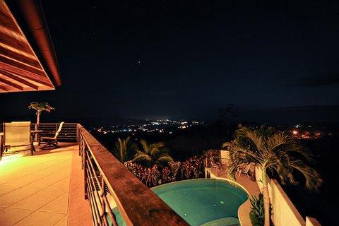 Flamingo Beach at night - Casa Fiesta best ocean , mountain views best price - Playa Flamingo - rentals