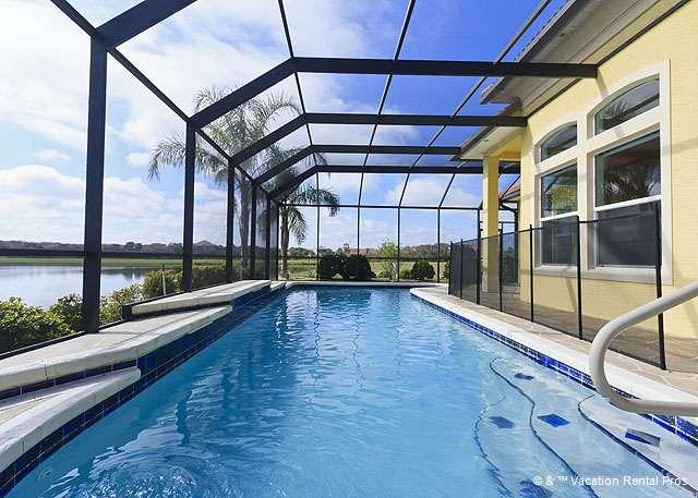 Golden Goose is a dream beach vacation home - Golden Goose, 5 bedrooms, HDTVs, private heated pool, lanai - Palm Coast - rentals