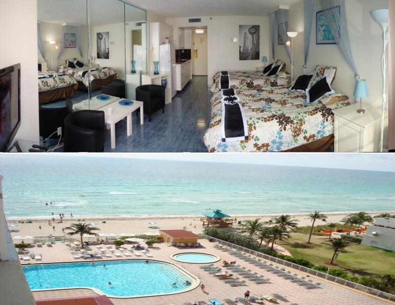 CONDO AND BEACH VIEW - STUDIO/CONDO ON THE BEACH IN SUNNY ISLES FLORIDA - Sunny Isles Beach - rentals