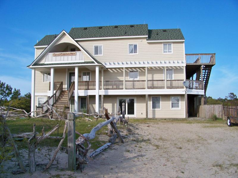 Welcome to SandyCheeks Your home on the beach for the week! - Private Canal Front OBX Home Pet-Friendly Pool/Tub - Carova Beach - rentals