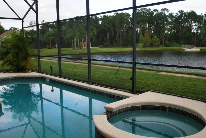 POOL SIDE WITH WATER VIEW - Stunning Lake View 7 bdrm(4 suites) with a Hot Tub - Kissimmee - rentals
