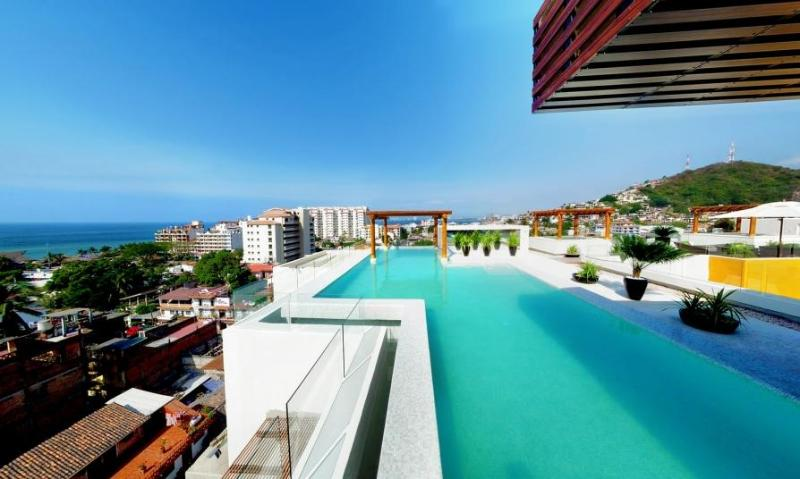 Rooftop shared heated infinity pool with views - Amazing New 5* 1BR 2BA 5min to beach Fab Pool&View - Puerto Vallarta - rentals