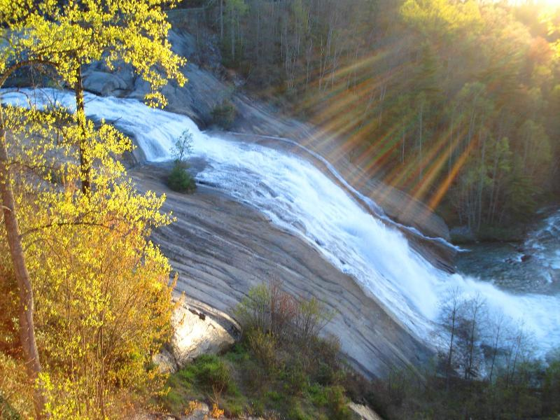 View from your private deck in the fall - WATERFALL & MOUNTAIN VIEW! - Lake Toxaway - rentals