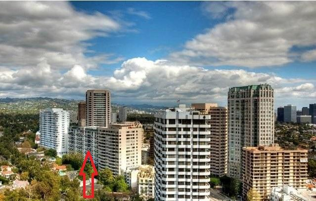 Helicopter View of 8th Floor Condo and Beverly Hills - 5 STAR*****  Hi-Rise BH Condo   BetterThan A Hotel - Beverly Hills - rentals