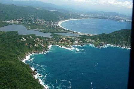 View of property from air, Ocean, Lagoon & Bay views - Villa Beyond the Rainbow - Manzanillo - rentals
