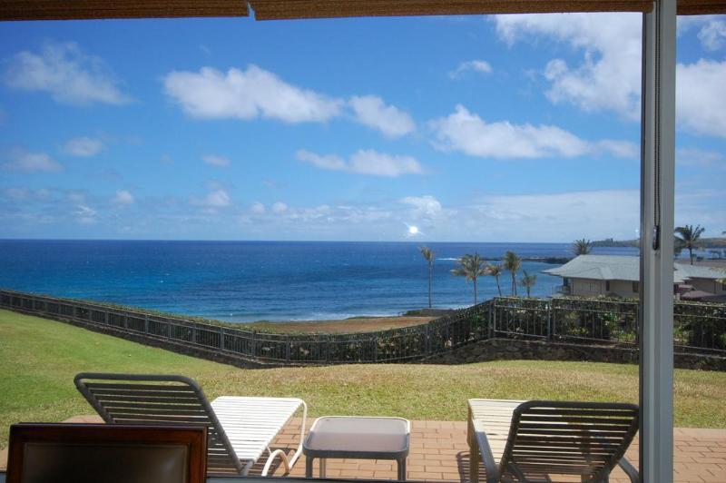 From your lanai - Stunning Beachfront 'Gold' Kapalua Bay Villa - Kapalua - rentals