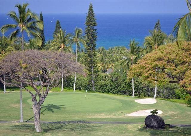 View From Lanai, Master Bedroom and Loft - Beautiful 2 bedroom 2 bath with loft and ocean view on the 18th fairway #322 - Kailua-Kona - rentals