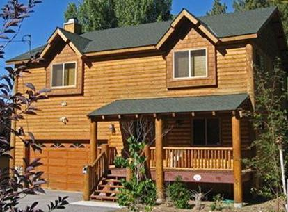 Front View - Moonridge, Big Bear Luxury Cabin - steps from Bear Mountain - Walk to ski! Big Bear Luxury Cabin (3BR, 2000sqft) - Moonridge - rentals