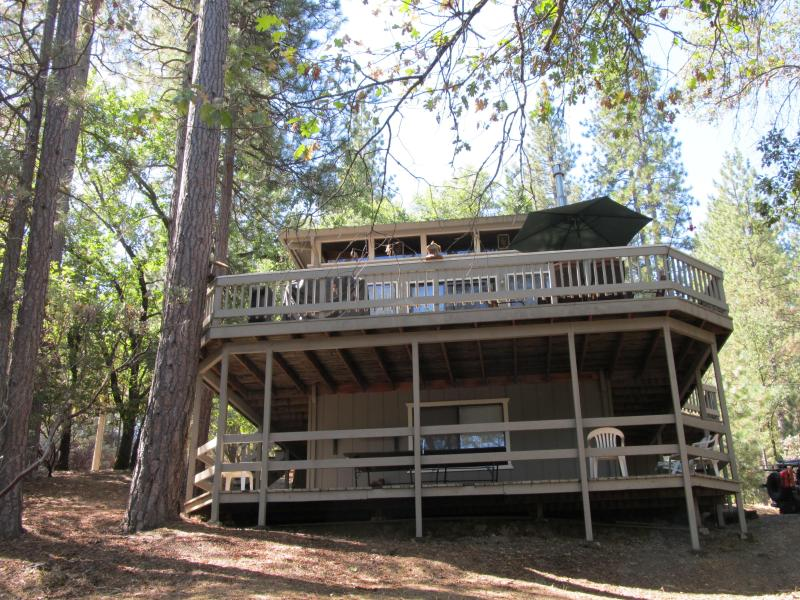 The large decks of The Cedar Cabin are for having fun! - The Cedar Cabin at Pine Mountain Lake - Groveland - rentals