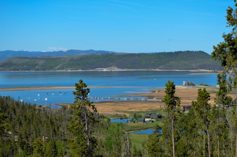 View from the deck - Luxury Log Cabin W/Mnt &Lake Views Near Grand Lake - Grand Lake - rentals