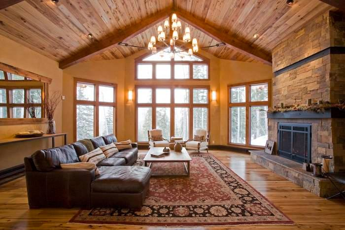 Vaulted ceilings and big windows in the Great Room at Alpenglow in Telluride Mountain Village - ALPENGLOW - Telluride - rentals