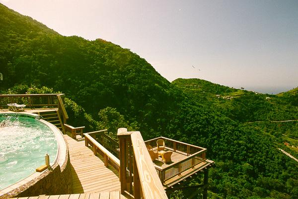 Luxurious mountain hideaway at the top of Troy Hill in the middle of the rainforest- beautiful ocean view to boot!	 SAB HKU - Image 1 - Saba - rentals