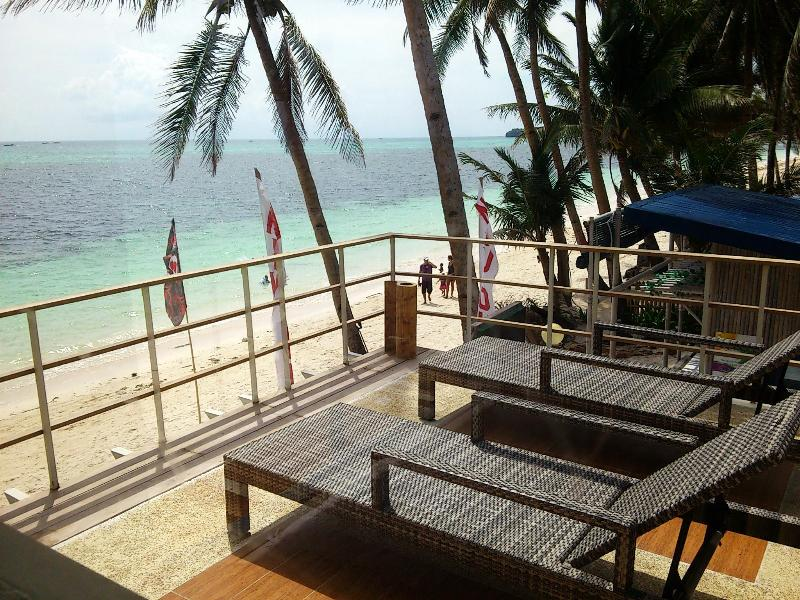 Deck view to right of beach - Absolute beachfront 2 & 1 BR Apts in Boracay! - Boracay - rentals