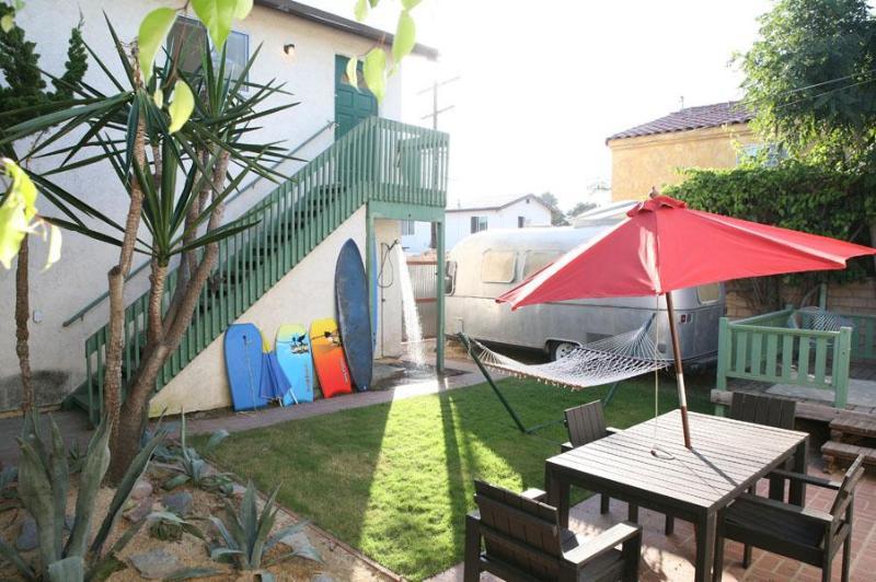 outdoor shower, shared yard- upstairs apartment - Vintage Spanish Gem- Walk to beach- - Pacific Beach - rentals