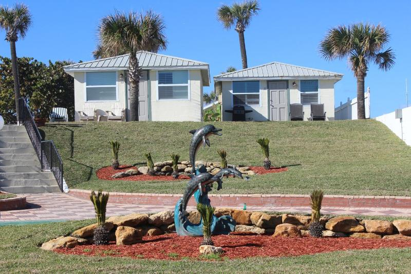 Exterior of Cottage #47 & #48 - Oceanfront Cottages with Fully Equipped Kitchens - Daytona Beach - rentals