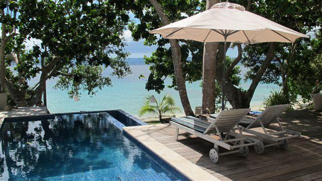 Your private pool - Grand Villa, beachfront luxury at Dreamcove 17 - Port Vila - rentals