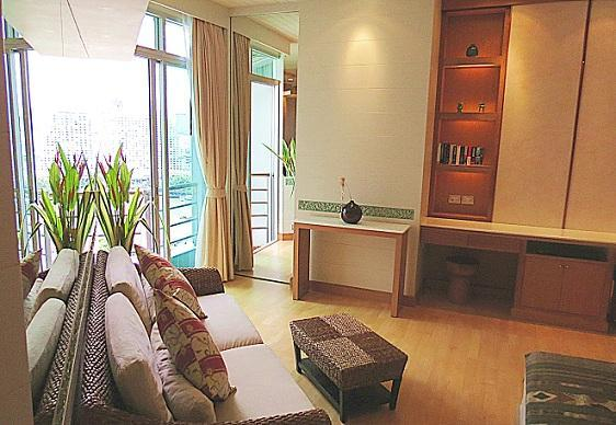 From the sofa - Exquisite studio apartment, scenic river view,WiFi - Bangkok - rentals