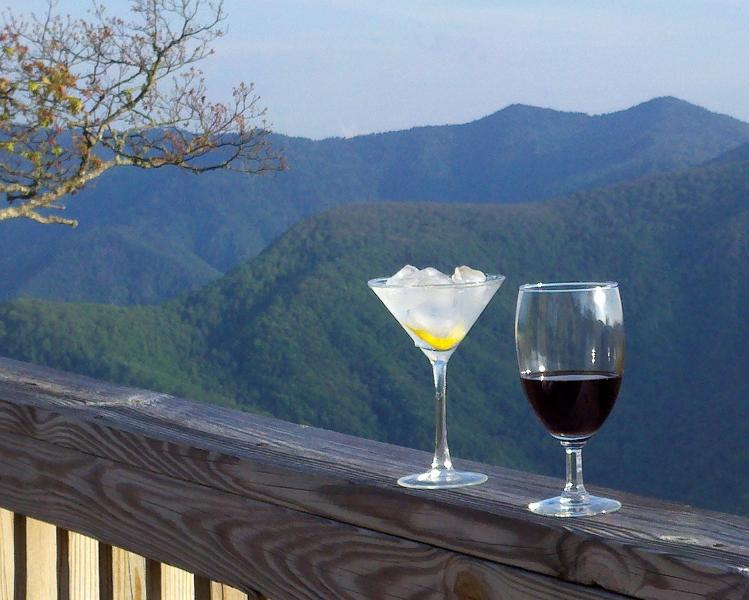 View to the south - Kiss the Sky - Maggie Valley - rentals
