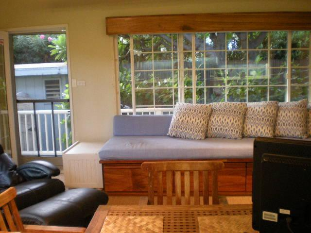 VIEW OF COTTAGE INTERIOR FROM KITCHEN - Hale Hualalai Estate Cottage - Kawaihae - rentals