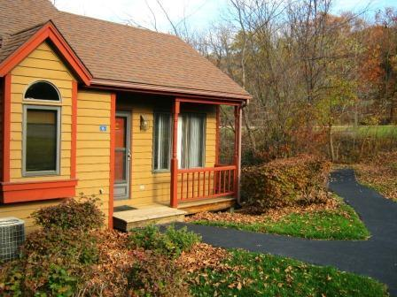 Outside of townhome - Enjoy a Cozy, Secluded, Affordable Galena Retreat! - Galena - rentals