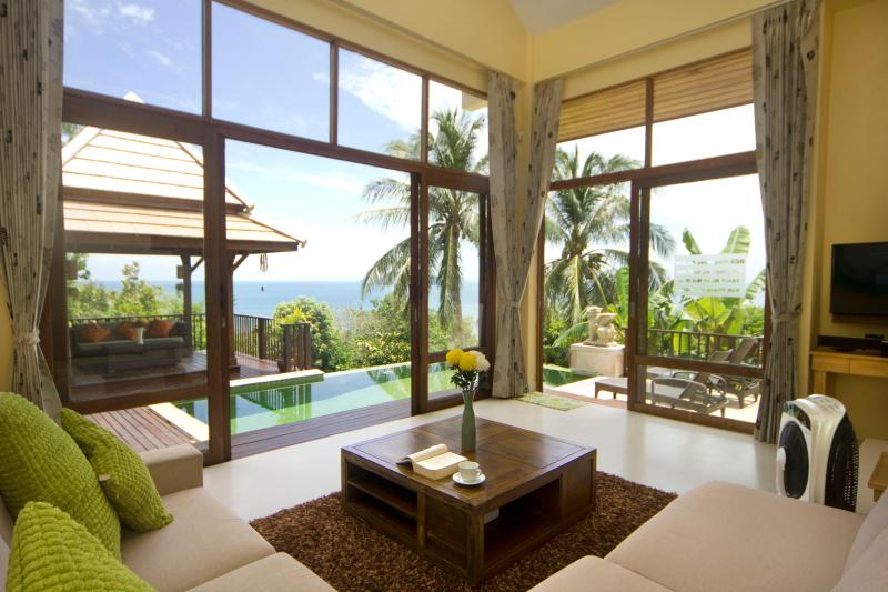 View from Sofa - Beachside Private Villa on Koh Phangan - Koh Phangan - rentals