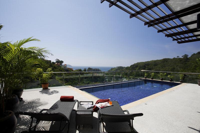 View from Terrace - Phuket Kamala - Sea View, Private Pool, 3 bedrooms - Kamala - rentals